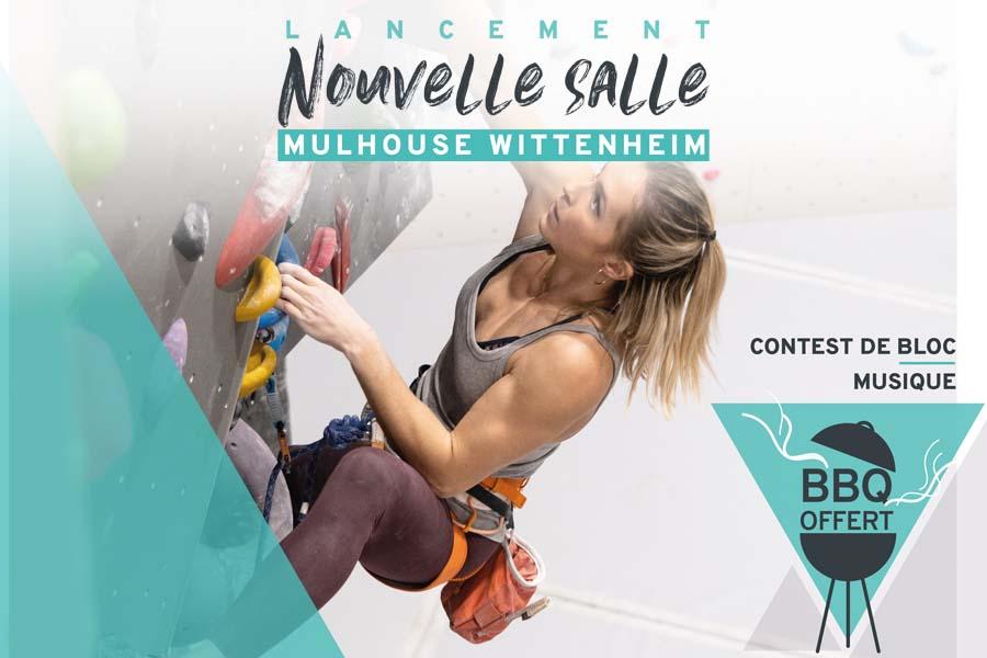 Ouverture de la salle Climb Up Mulhouse Wittenheim : contest de blocs et barbecue